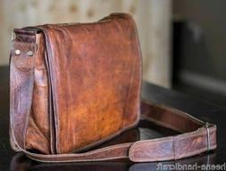 Handmade 15 inch Vintage Crossbody Genuine Leather Laptop Me