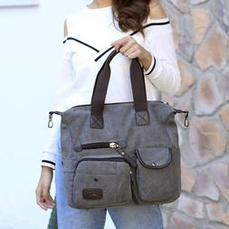1pc Canvas Travel Bag Large Capacity Portable Crossbody Bag