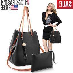 1Set/2Pcs Women Leather Handbags Shoulder Bags Lady Crossbod