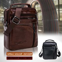 1x Men Real Leather Handbag Messenger Satchel Casual Shoulde