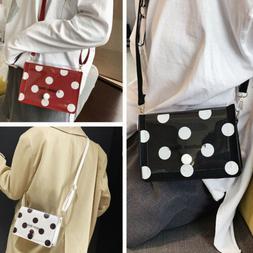 2019 Women's Wavy Dot Transparent Bag One Shoulder Cross-bod
