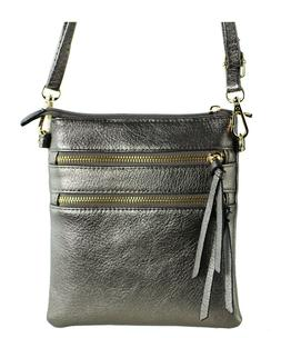 New Functional Multi Pocket Crossbody Bag 80808A PEWTER,WITH