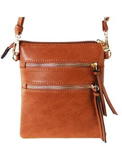 New Functional Multi Pocket Crossbody Bag 80808A TAN,WITH TA