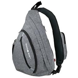 Versatile Canvas Sling Bag/Urban Travel Backpack, Grey | Wea