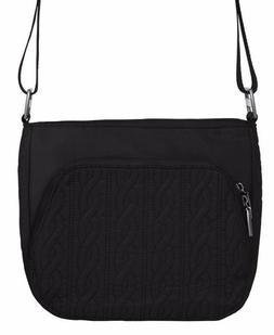 Baggallini Allure Crossbody/Shoulder Bag in Black w/Pink Emb