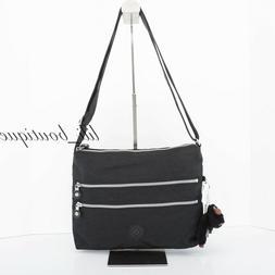 Kipling Alvar Crossbody Shoulder Bag Black
