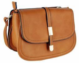 Alyssa Collection Women's Fashion Saddle Bag Cross Body Purs