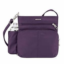 Travelon Anti-theft Classic N/S Crossbody Bag, Purple