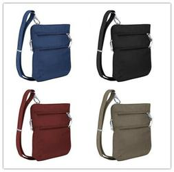 Travelon, Anti-Theft Classic Slim Dbl Zip Crossbody Bag, Two