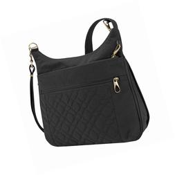 anti theft signature quilted expansion cross body