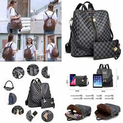 Backpack For Women Fashion Leather Ladies Rucksack Crossbody
