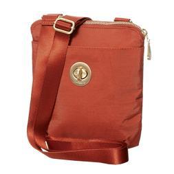 baggallini RFID Mini Crossbody Bag Orange Gold-tone Hardware