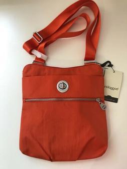 Baggillini Hanover Silver Crossbody Shoulder Bag Organizer P