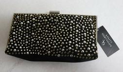 Adrianna Papell Black Gold Silver Crossbody Evening Bag $92