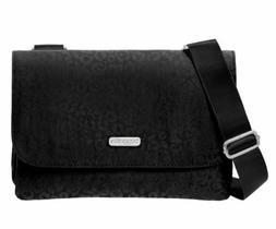 Baggallini Black Venture Crossbody Bag Cheetah