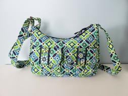 blue and green daisy daisy crossbody bag
