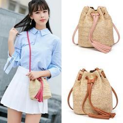Bohemian Straw Bag for Women  Beach Crossbody Bag Summer Vin