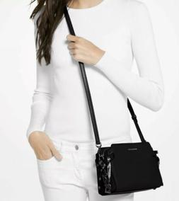 bristol crossbody bag black leather nwt
