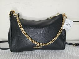 Coach Carrie Crossbody Bag in Black with Gold Hardware - F39