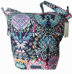 Vera Bradley Carson Hobo Bag Fox Forest Quilted Cotton Cross