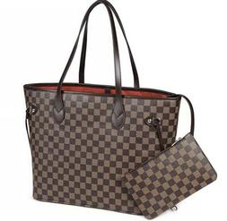 Purely Radiant Checkered Tote Bag For Women Leather Shoulder