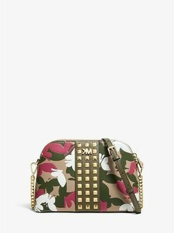 Michael Kors Cindy Large Dome Crossbody Bag in Butterfly Cam