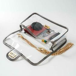 Clear Crossbody Bag for Women,The Transparent Tote bag with,
