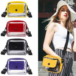Clear Crossbody Messenger Bag NFL Stadium Approved Transpare