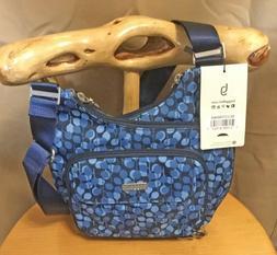 BAGGALLINI Criss Cross Crossbody Bag NWT Pacific Pop Blue