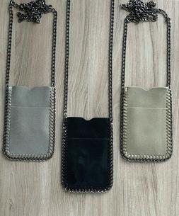 Crossbody Bag Phone Pouch Chain Trim Shaggy Deer Holder Fala