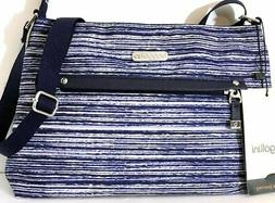 Baggallini CROSSBODY BAGG Daily BLUE Zipper Purse Everyday S