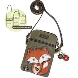 Chala Crossbody Convertible Cell Phone Purse - Fox
