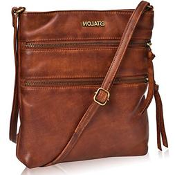 Crossbody Purses for Women Real-Leather - Large Multi Pocket