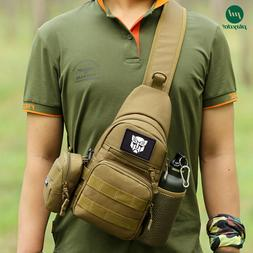 Crossbody Tactical Sling Chest Pack Molle Day pack Military