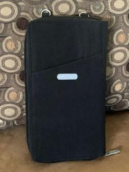 "Baggallini Crossbody Wallet Style Bag Black Nylon  9"" x 5"" x"