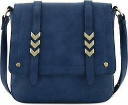 * CUTE CROSSBODY BAG * Double Compartment Large Flapover w/M