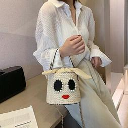 Cute Small Bucket Bags for Women Summer Crossbody Bags Lady