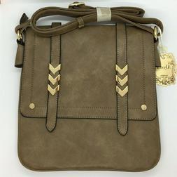 Alyssa Double Compartment Large Flapover Crossbody  Bag