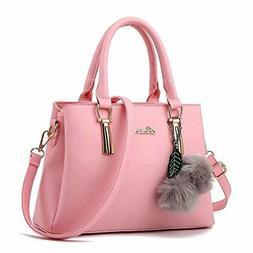 dreubea women s leather handbag tote shoulder