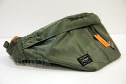 DS Yoshida PORTER Tanker Waist Bag Crossbody GREEN 622-66628