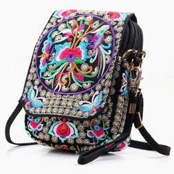 Embroidered Cute Mini Crossbody Bag for Women Small Handbags