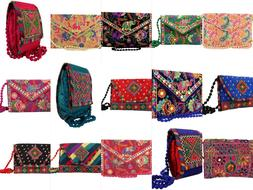 Embroidered Sling Bag Rajasthani Handmade Designer Purse/Cro
