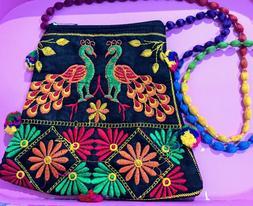 Embroidery Handmade Pom Pom/Bohemian/Gypsy Shoulder Bags/Cro