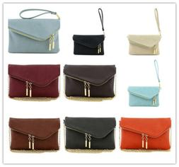 FashionPuzzle, Envelope Wristlet Clutch Crossbody Bag with C