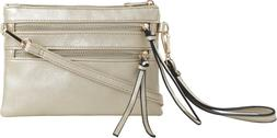 DELUXITY Everyday Multi-Pocket Crossbody Bag with Removable