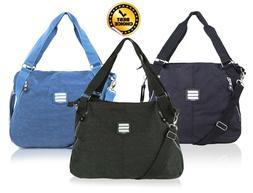 Suvelle Everyday Travel Tote Handbag 3 Color Multi Pocket Ny