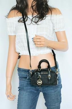 Michael Kors Ginger Mini XS Extra Small Black Signature MK D