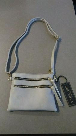 DELUXITY Grey Crossbody Purse Bag | Functional Multi Pocket