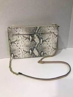 Ann Taylor Grey Snake Leather Crossbody Chain Bags for Women