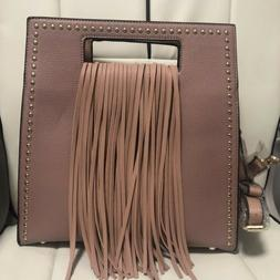 Deluxity Handbag Chic Rectangle Handle Shoulder Bag Purse